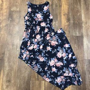 Pinkblush Navy Floral Maxi Dress (Maternity)